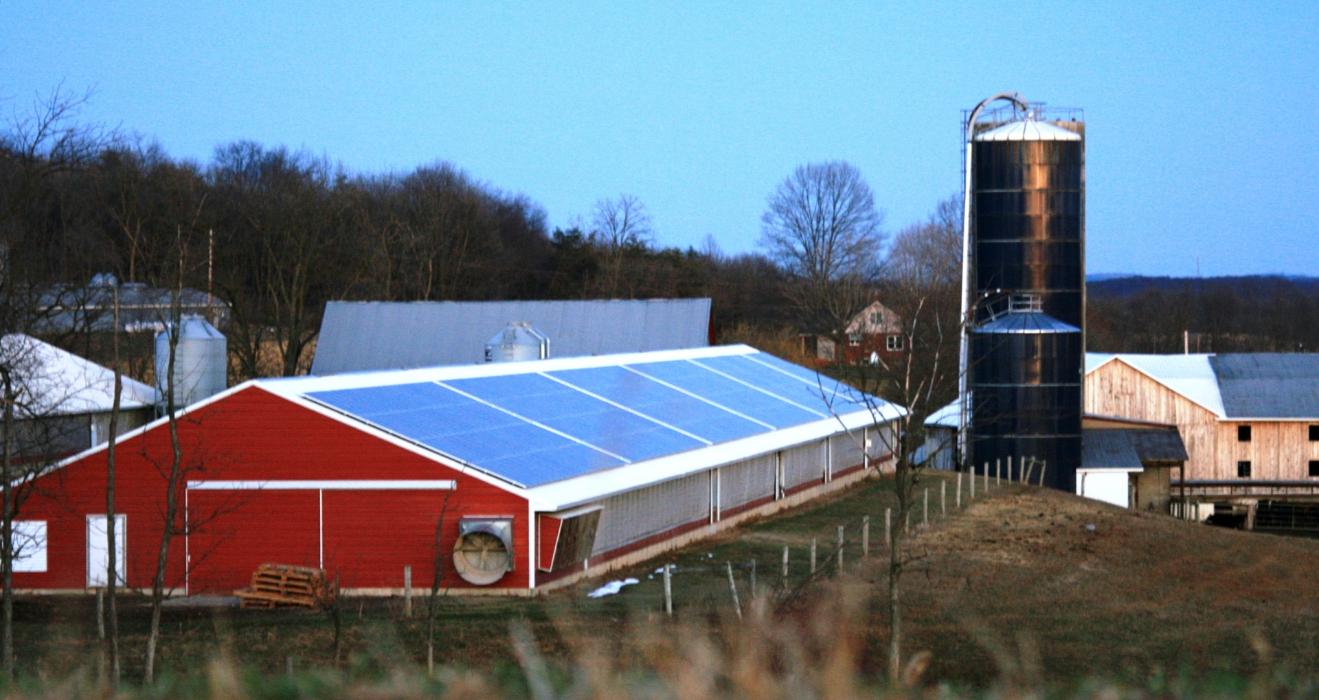 At Focus Farm, a turkey farm in Lewisburg, a rooftop solar array installed by Energy Independent Solutions helped create jobs in a rural part of Central Pennsylvania. (Photo courtesy of EIS Solar)